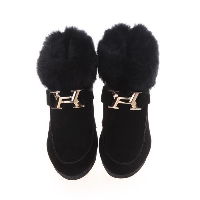 Plus la taille Nouveau garder chaud bottes de neige d'hiver pour le cuir chaussures femmes mode brevet bottes de chaussures de GPNjfNhUy