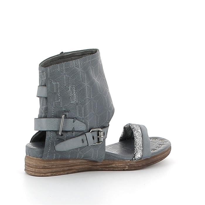 Nu-pieds à motifs texturés - Bleu - 40