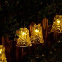LAMPE DE JARDIN  20 LED 4,8M Solaire Puissance Chaîne Lumières Cloc