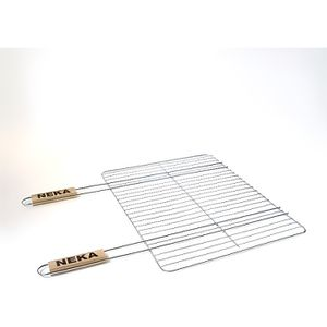 BARBECUE Grille double manche pour barbecue - 38 x 50 cm -