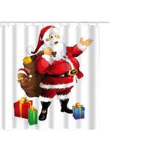 RIDEAU DE DOUCHE Imperméable Polyester Salle de bains de Noël ridea