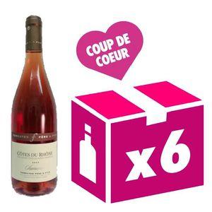 VIN ROSÉ Côtes-du-Rhône  2016 Samorëns vin rosé 6x75cl Ferr