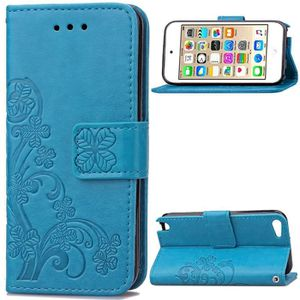 COQUE MP3-MP4 Bujing Bleu Gaufrage Trèfle Cuir Synthétique TPU S