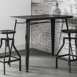 table haute industrielle achat vente pas cher. Black Bedroom Furniture Sets. Home Design Ideas