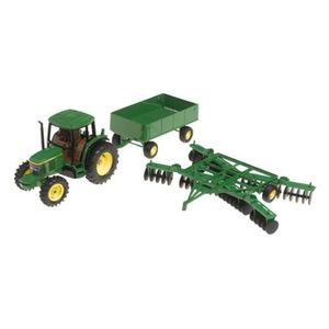 PARTITION ERTL John Deere 6410 Tractor With Barge Wagon And