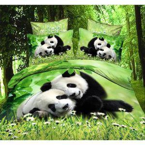 housse de couette panda achat vente pas cher. Black Bedroom Furniture Sets. Home Design Ideas