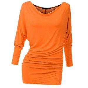 T-SHIRT T-shirt Femme Manches Chauve-souris Manche Longue