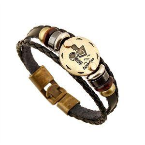 MONTRE Hommes 12 Zodiac Bracelet Vintage en Alliage de Cu