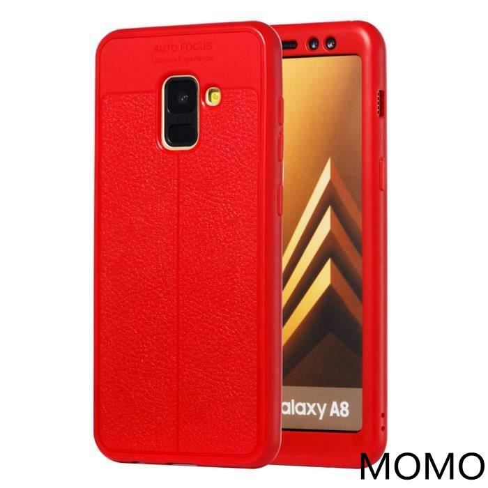 coque silicone rouge samsung a8 2018