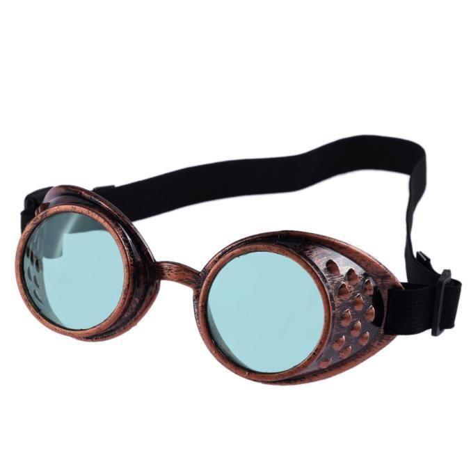 Deuxsuns®Lunettes de Steampunk Vintage Style soudage Punk lunettes Cosplay GN@zf326