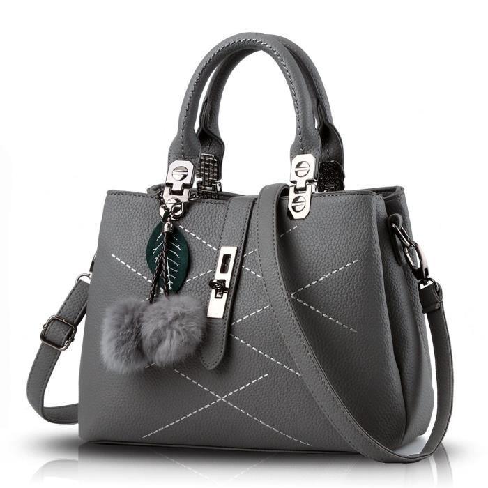 Nouveau sac à main Tide simple avec sac diagonale épaule boule cheveux Sacs à main Porte-monnaie F2Z5O