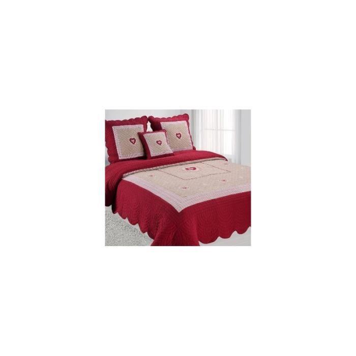 boutis de lit rouge achat vente boutis de lit rouge pas cher cdiscount. Black Bedroom Furniture Sets. Home Design Ideas