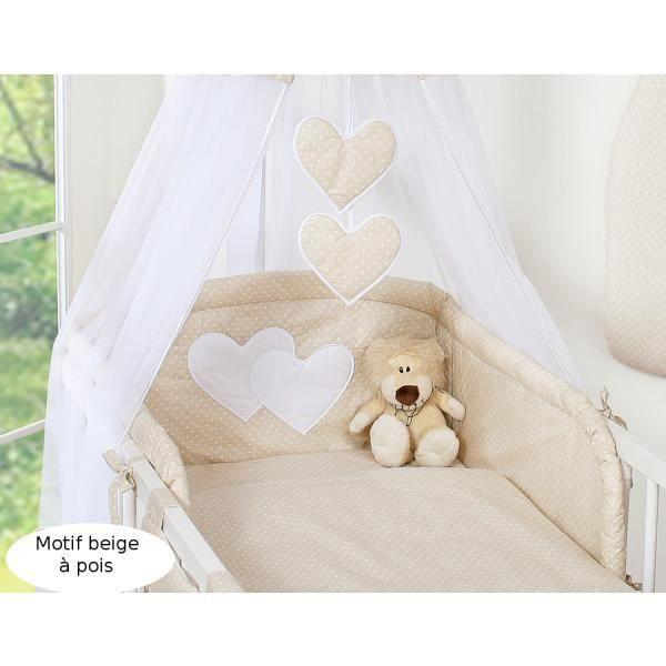 Tour de lit bébé - 120*60 ou 140*70 – beige à pois - Achat / Vente ...