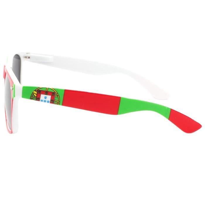 Eye Wear Lunette de soleil Algerie verte, blanche et rouge - Mixte