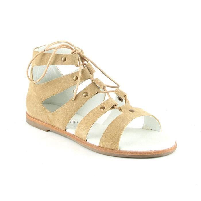 Sandales en cuir - noisette