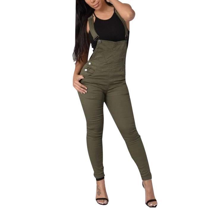 Style classique qualité-supérieure magasins d'usine Minetom Femmes Grande Taille Bodysuit Jumpsuit Combinaisons Bretelles  Pantalon Ceinture Casual Jeans Salopette Pantalon