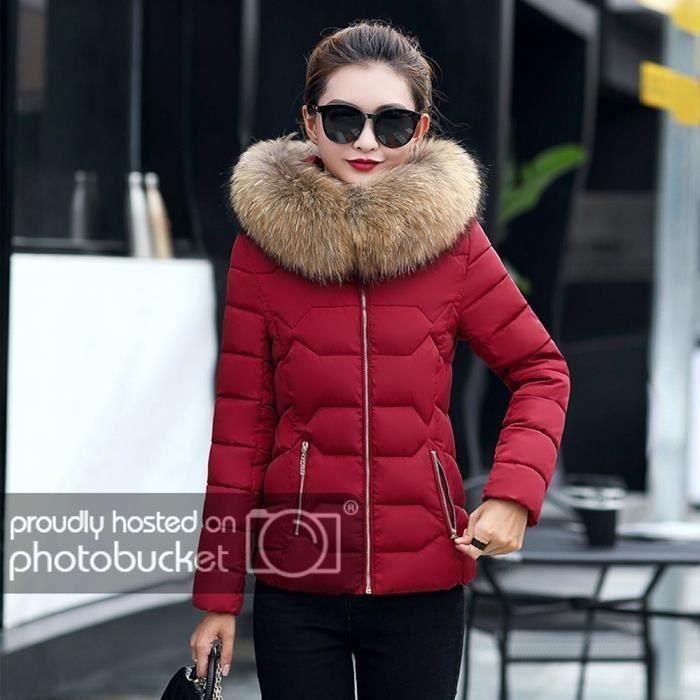 FUNMOON - Mode Solide Femmes Occasionnels Plus Épais Hiver Manteau Mince  Pardessus 99bea7400906