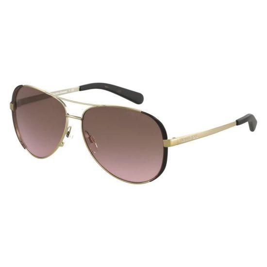 Lunettes de soleil Michael Kors MK5004 Chelsea-101414 Or - Achat   Vente  lunettes de soleil Homme Adulte Doré - Soldes  dès le 9 janvier ! Cdiscount 21dff82e5fc9