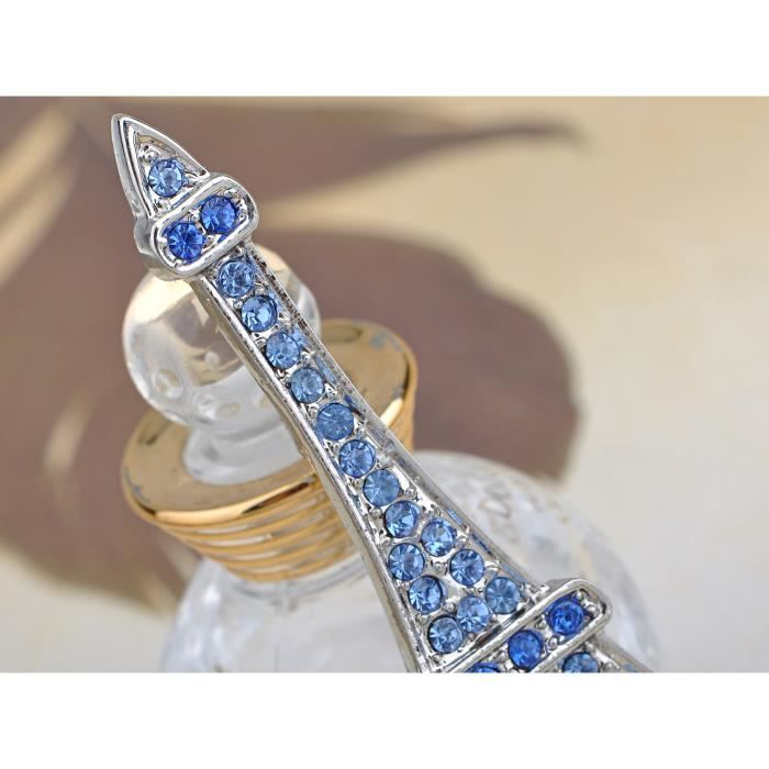 Ton argent plaqué Bleu Saphir Paris Tour Eiffel tendance Bijoux Broche