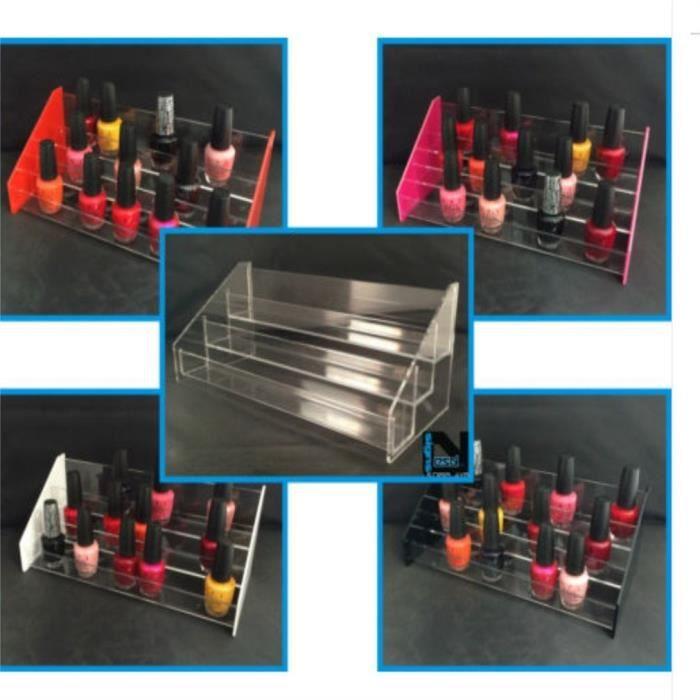 5 couches Présentoir à vernis à ongles de vente en détail acrylique- BLANC
