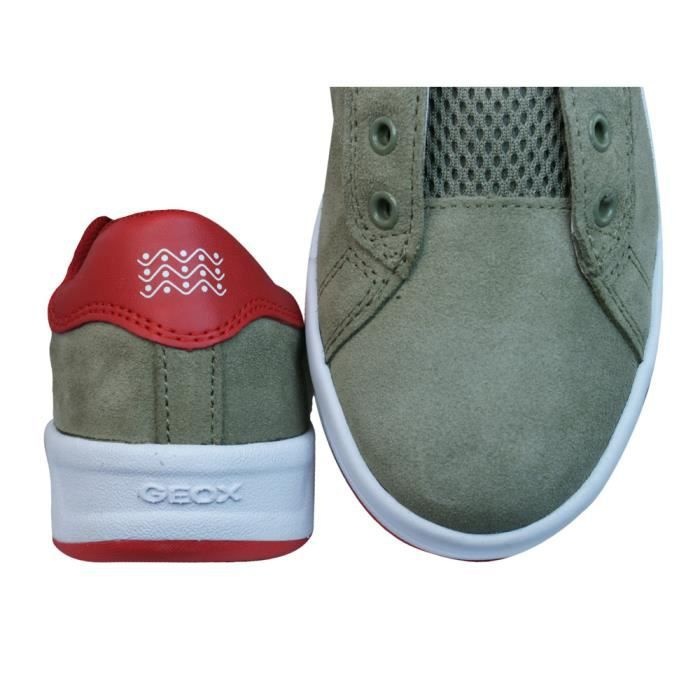 Geox Baskets J Rolk B Garçons en daim Chaussures à lacets Green 3