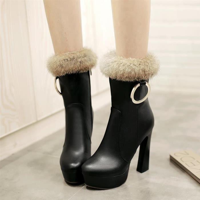 Ga87 Thigh High Peep Toe Cutaway Chunky Heel Boot MZOT2 Taille-38 Kz6kjuU
