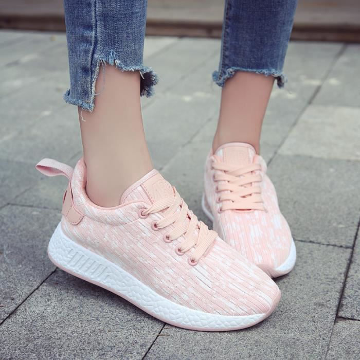 Lacets Baskets femme Rose Chaussures Mode Basket Mode Lacets Feminine Feminine Rose Baskets Basket à à Chaussures femme Basket w4YqAxWO