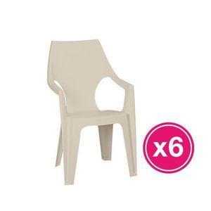 FAUTEUIL JARDIN   Lot de 6 fauteuils  coloris cappuccino ALLIBERT