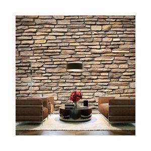 papier peint en pierre achat vente pas cher. Black Bedroom Furniture Sets. Home Design Ideas