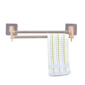 Cuisine multifonctionnel porte serviettes porte salle de bain support deux poteaux kaki - Porte serviette cuisine ...