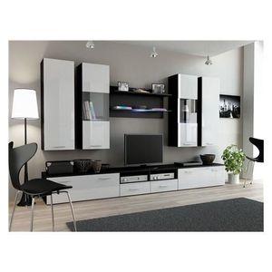 Ensemble Meubles Tv Design Sirus 2 Noir Et Blanc