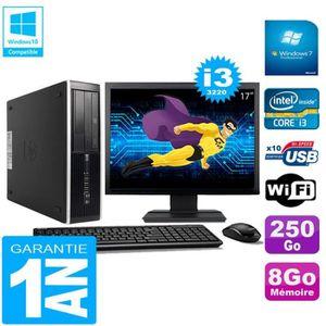 UNITÉ CENTRALE + ÉCRAN PC HP Compaq Pro 6300 SFF I3-3220 8Go 250Go Graveu