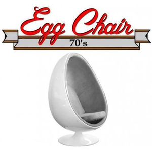 FAUTEUIL Fauteuil pivotant Oeuf, Egg chair coque blanche /