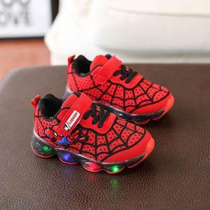 de0a52804fd27 BASKET Baskets Spiderman Lumière LED Chaussures de course
