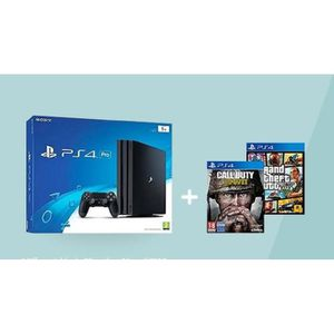 CONSOLE PS4 CONSOLE PS4 PRO 1 TO  + CALL OF DUTY WWII + GTA V