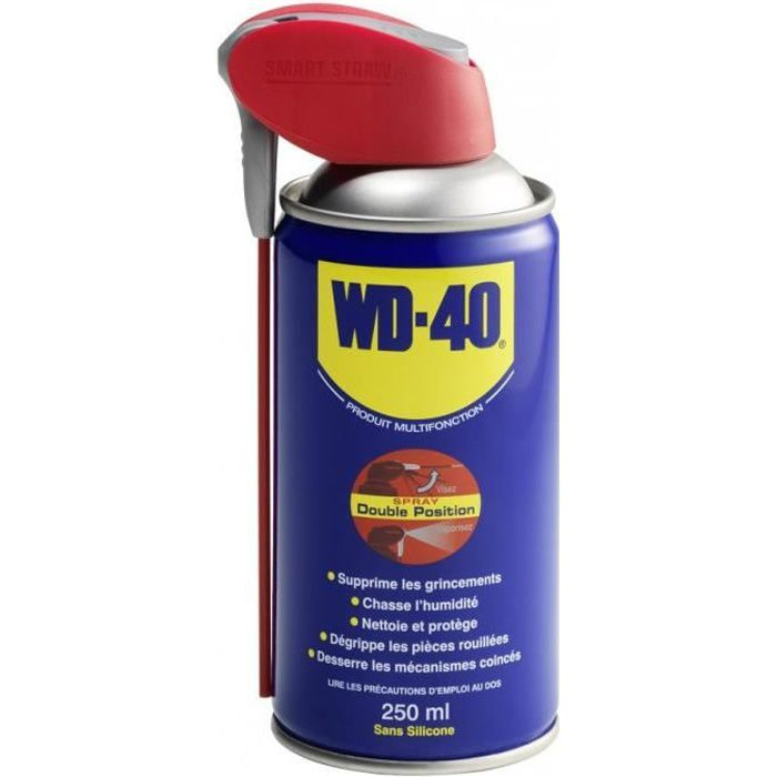 WD40 Spray Multifonction 250 ml Double Position (Aérosol)