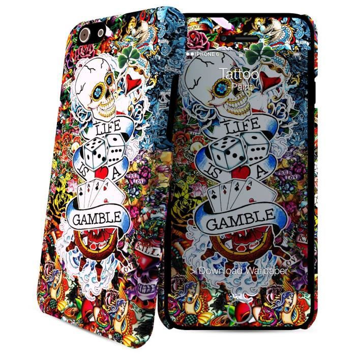 I-PAINT Coque iPhone 6/6S - Tattoo