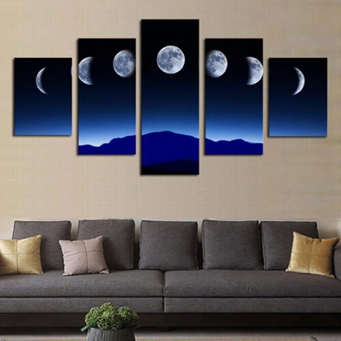 Peinture à Lhuile De Grande Taille Sur Toile Moon Night Picture