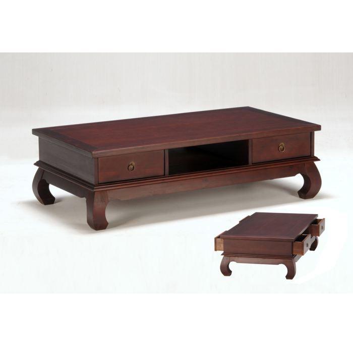 ALEXI - Table basse 4 tiroirs exotique - Achat / Vente table basse ...