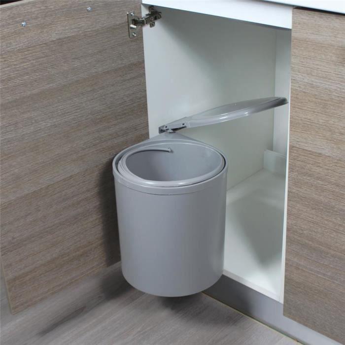poubelle de cuisine encastrable duddy 12 litres. Black Bedroom Furniture Sets. Home Design Ideas