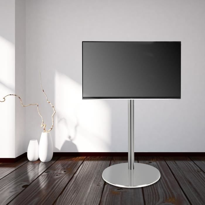 Cavus Fm120 50s Support Tv Design O 37 Cm Pied Rond En Acier