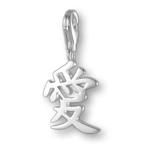 Melina Charms Pendentif caractères Chinois = Liebe Argent 925 DN3B8