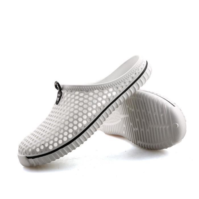 pantoufles d'été des femme Plus Taille santal dame chaussures de jardin glissent sur pantoufles de plage extérieur perméable à l'air qoYzqNlex