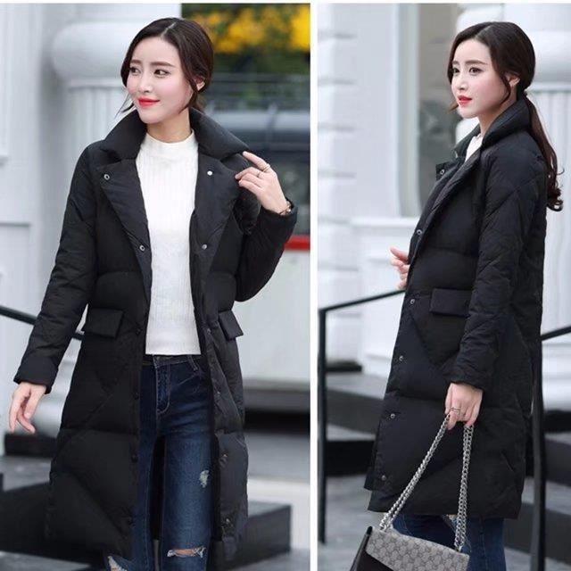 Grande Solide Hiver Manteau Femmes Chaud rouge Mince Long Européen Gris Taille Moyen Vente Vêtements Nouveau noir Couleur vert Style vHXqv