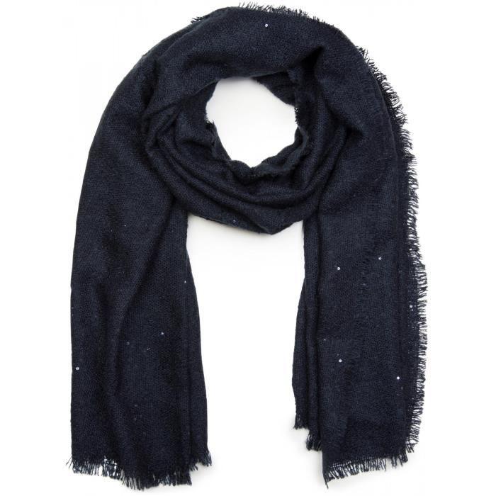 écharpe XL avec tissage léger, garnie de paillettes et d une frange tout  autour, écharpe à paillettes, pour femmes 01017028 cac5521cf9ff