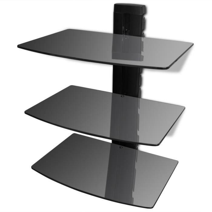 tag re murale 3 tablettes de support et hauteur. Black Bedroom Furniture Sets. Home Design Ideas