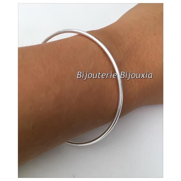 Bracelet Jonc Argent Massif 925 Millièmes 6,2 CM