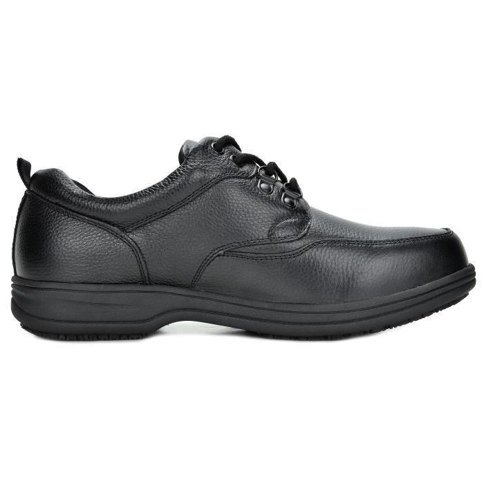 Uno en cuir véritable restaurant Oxfords Chaussures de travail WGZPU Taille-44 1-2