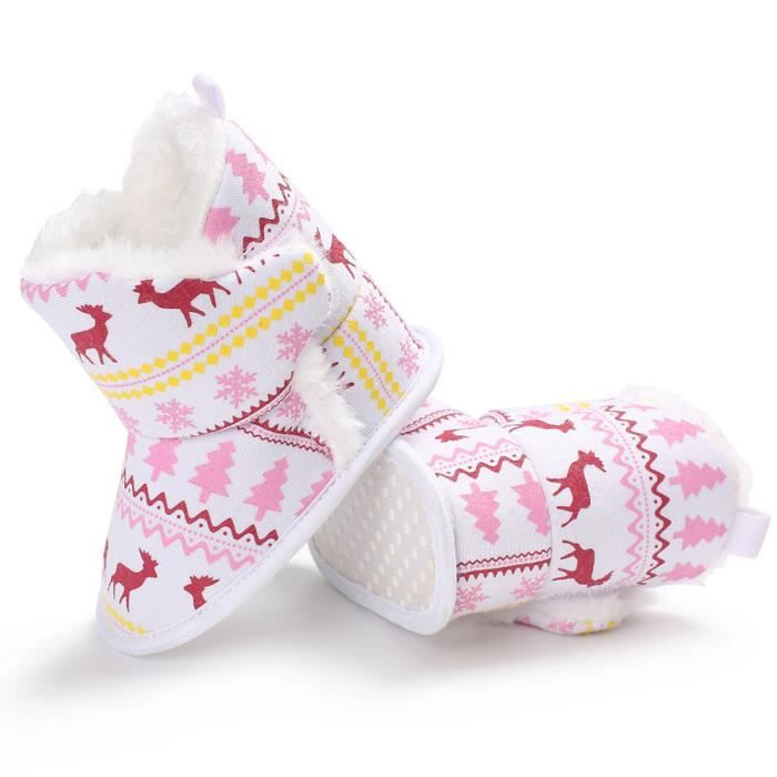 Soft Neige Doux Sole Elk Tout Baby Berceau Noël petitsnoël Bottes Hm7643 De qAYEUx