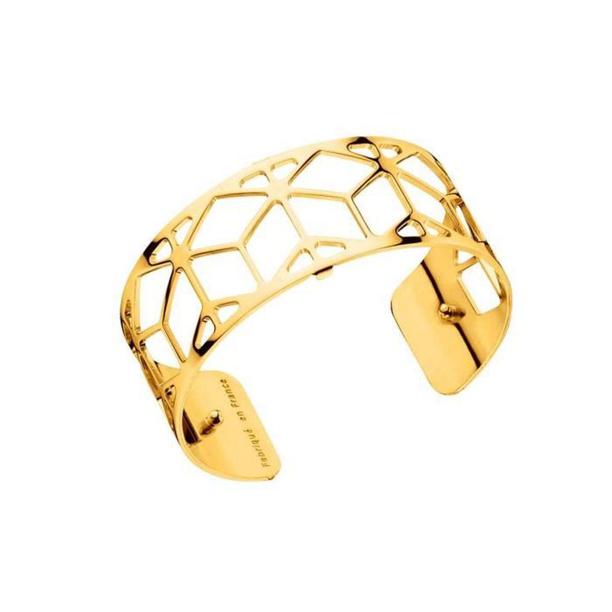 Bracelet Manchette Résille Pour Femme En Plaqué Or